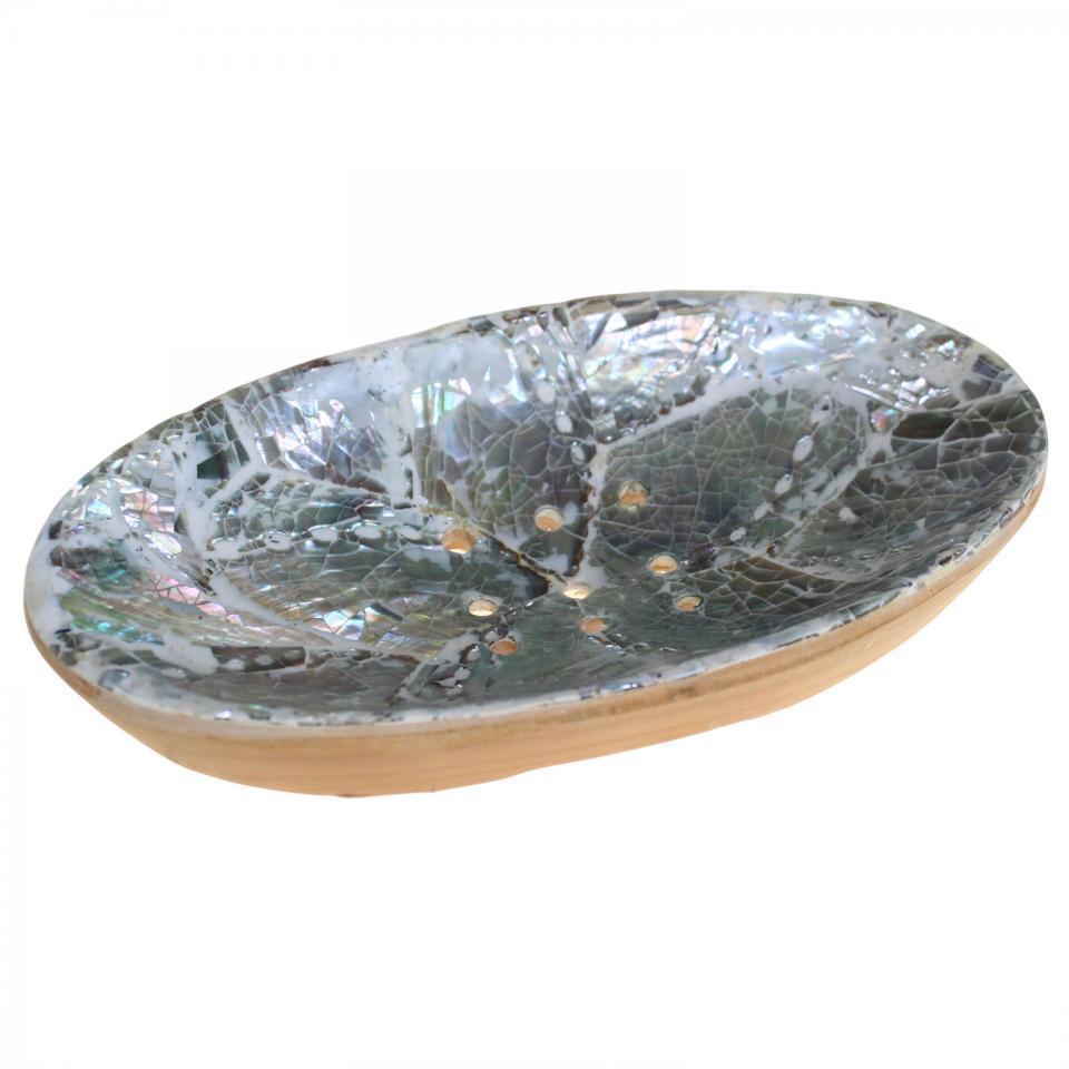 Mahogany & Shell Soap Dish